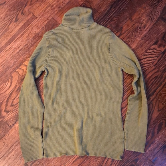 TAN//BROWN BASIC EDITIONS PULLOVER TURTLENECK SWEATER